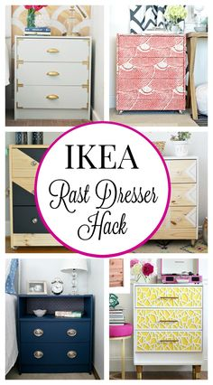 The best Ikea Rast Dresser Hacks- Die besten Ikea Rast Dresser Hacks The Best Ikea Rast Dresser Hacks- The Best Ikea Rast Dresser Hacks – Classy Clutter – - Ikea Bedroom Furniture, Ikea Furniture Hacks, Upcycled Furniture, Furniture Projects, Furniture Makeover, House Projects, Bedroom Dressers, Wood Projects, Bedroom Decor