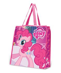 Save the environment in sweet style with these reusable shopping bags. The vibrant, waterproof exterior sports a prancing Pinkie Pie, while the roomy interior boasts reinforced stitching. Featuring a durable handle and folding design, this is the perfect piece for on-the-go fans.
