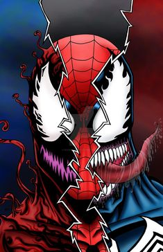 121 Spidy Venom Carnage by kevinemeinert on DeviantArt Venom Comics, Thanos Marvel, Marvel Villains, Marvel Comics Art, Marvel Heroes, Marvel Characters, Black Spiderman, Spiderman Art, Amazing Spiderman