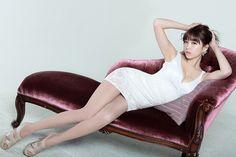 CuteKorean: Lee Eun Hye in White Mini Dress