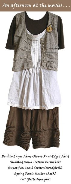 vest is free form tucks on flannel base-- pants have the free form corded tucks Kati Koos ~ June 2008 Newsletter