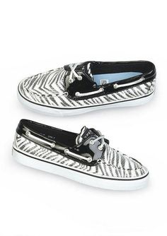 Sperry Bahama 2-Eye Zebra Cute Girl Shoes c617d493fefd8