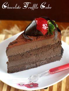 Just My Ordinary Kitchen...: MY 5th ANNIVERSARY CAKE: CHOCOLATE TRUFFLE CAKE