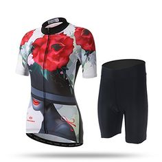 cf1d0d08c2d Womens Cool Rose Bicycle Cycling Jersey Shirts and 3D Padded Shorts XL      Check · Bicycle JerseysMtb ...