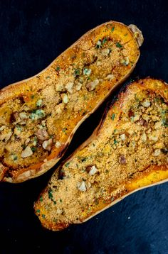 Twice Baked Blue Cheese Butternut Squash