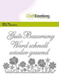 CraftEmotions Stanzschablone - Text Deutsch - Gute Besserung