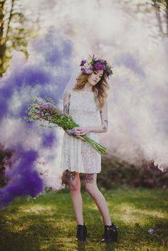 Bad Ass Smoke Bomb Bridals · Rock n Roll Bride