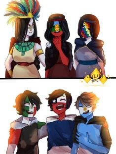 images and comics of the countryhumans❤️ - images and comics of the countryhumans❤️ – ❤️🇦🇷 159 🇨🇱🇲🇽 – Wattpad - Hetalia, Mundo Comic, History Memes, Funny History, Human Art, Country Art, Funny Comics, Webtoon, Chibi