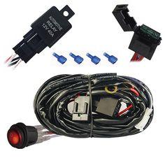 MICTUNING LED Light Bar Wiring Harness Laser ON/OFF Rocker