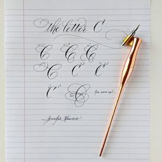 No photo description available. Calligraphy Letters Alphabet, Calligraphy Worksheet, Calligraphy Tutorial, Calligraphy Drawing, Copperplate Calligraphy, Hand Lettering Tutorial, Calligraphy Handwriting, Penmanship, Free Handwriting