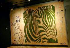 Moss Graffiti Art is hitting the streets across the globe providing an environmental art form that is far from an eyesore. Moss Grafitti, Graffiti En Mousse, Chien Yorkshire Terrier, Moss Paint, Street Art, Moss Wall Art, Painted Driftwood, Graffiti Artwork, Gardening