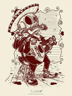 Valentine's Day Letterpress Art Print by Jeral Tidwell - OMG Posters! Los Muertos Tattoo, Valentine's Day Letter, Day Of The Dead Art, Chicano Art, Skull And Bones, Letterpress, Cool Art, Art Drawings, Graffiti