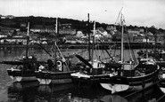 Newlyn, The Harbour c.1955