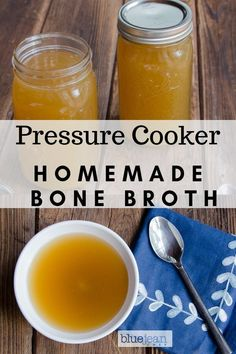 Pressure Cooker Bone Broth means that you can have this delicious fortified stock in as little as three hours. #bluejeanchef #bonebroth #pressurecooker #instantpot #soup #homemade Drinking Bone Broth, Making Bone Broth, Instant Pot Pressure Cooker, Pressure Cooker Recipes, Pressure Cooking, Blue Jean Chef, Homemade Bone Broth, Chicken Bones, Stuffed Whole Chicken