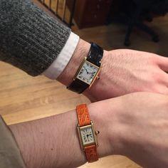A Cartier Tank for him and her... true power couple!