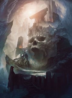 "rhubarbes: "" Concept art by Bastien Grivet via Concept Art World. More concept art here. Concept Art World, Fantasy Concept Art, 3d Fantasy, Fantasy Kunst, Fantasy Places, Fantasy Setting, Fantasy Artwork, Fantasy World, Dark Fantasy"