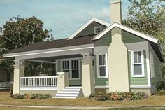 A big covered front porch wraps around the front and side of this charming Bunga… A big covered front porch wraps around the front and side of this charming Bungalow house plan.The living room is huge and flows right into… Continue Reading → Porch Kits, Porch House Plans, House With Porch, Craftsman House Plans, Small House Plans, Small House Kits, Craftsman Porch, Small House Floor Plans, Craftsman Homes
