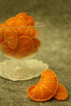 Yummy Filz Orange Scheiben Set 8 von TobyMaMa auf Etsy