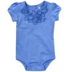 "DIY add charm to a onesie by stitching on some ruffles...need to try this! (Koala Baby Girls' Short Sleeve Bodysuit - Infant - Babies R Us - Babies ""R"" Us)"