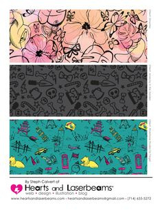 53b05fc3ec8e9 Spring 2013 Illustration Tear Sheets by Hearts and Laserbeams - repeat  pattern designs