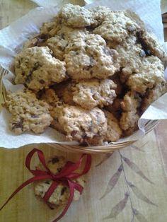 Horgolmány: Étcsokis zabpelyhes keksz