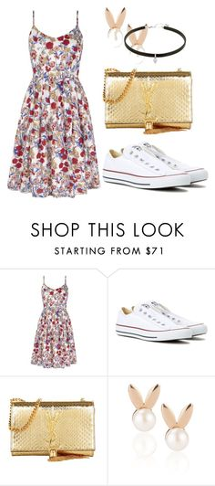 """""""Untitled #215"""" by summer-zou ❤ liked on Polyvore featuring Converse, Yves Saint Laurent and Aamaya by priyanka"""