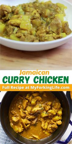 Jamaican Dishes, Jamaican Recipes, Curry Recipes, Jamaican Curry Chicken, Easy Chicken Curry, Caribbean Curry Chicken, Jamacian Food, Caribbean Recipes, Caribbean Food