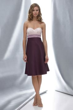 This is the perfect bridesmaid dress! Sweetheart A-line with ruffle embellishment satin bridesmaid dress