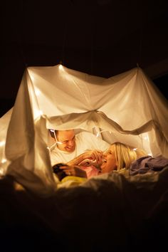 Make a fort for a date night!  Great way to feel like a kid again with your best friend :)