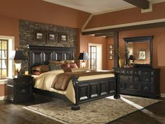 Get inspired by Traditional Bedroom Design photo by Wayfair. Wayfair lets you find the designer products in the photo and get ideas from thousands of other Traditional Bedroom Design photos. Master Bedroom Set, King Bedroom Sets, Queen Bedroom, Dream Bedroom, Pretty Bedroom, Master Suite, Black Bedroom Sets, Bedroom Brown, Master Bath