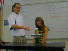 This experiment is designed to illustrate Newton's 1st Law of Gravity and Inertia, allowing students a chance to better understand the claims Newton made as illustrated by their text.  This video demonstrates student involvement in the experiment, which can be recorded in a lab manual designed for the experiment.  Common Core Standards Addressed: (CCSS.ELA-LITERACY.RST.9-10.8) (CCSS.ELA-LITERACY.RST.9-10.9) (Marisa H.)