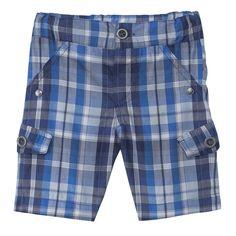 3 pommes SS14   Ropa bebé y moda infantil niño y niña Pantalón Bermuda Escocés