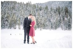 Get inspired by snowy winter engagement photos in Utah County by destination wedding photographer Brooke Bakken, featuring engaged couple Jane & Chris!