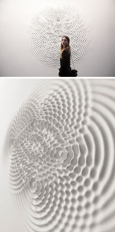 A relief audio sculpture in dialogue with architecture. Loris Cecchini liquifies the walls of art galleries by turning them into pools of undulating waves caused by sound. Resin Sculpture, Resin Art, Sound Sculpture, Abstract Sculpture, Colossal Art, 3d Texture, Waves Texture, White Texture, Italian Artist