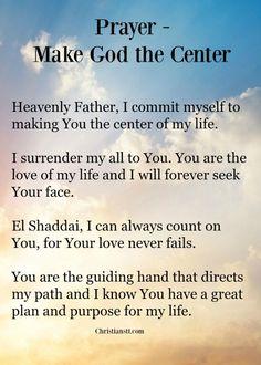 prayer - make god the centre