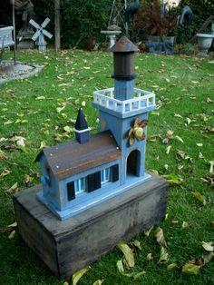 Bird+House++Garden++Home+Decor++Yard++Indoor+by+honeystreasures,+$165.00