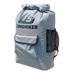 LONGHIKER 20L Waterproof Backpack Dry BagPadded Shoulder Straps  Mesh Side PocketsEasy Access Front PocketSwim Safety Float for Open Water Swimmers Triathletes Kayakers and Snorkelers *** You can get more details by clicking on the image.