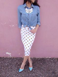 Agnes and Dora Pencil skirt!! Great tips on dressing modestly!