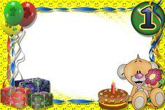 Molduras de aniversário - Imagui Good Morning Wishes, Happy Birthday Photos, Positive Messages