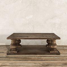 Hudson Rectangle Coffee Table in Brown | Arhaus Furniture