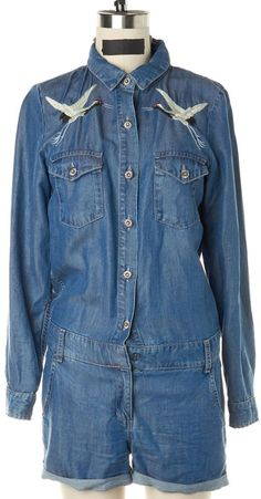 d234e147dccc THE KOOPLES Blue Embroieded Romper Size XS  fashion  clothing  shoes   accessories