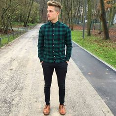 45fb8ee7fa 40 Hairstyles for Thick Hair Men s. Black Shirt OutfitsFlannel ...