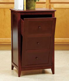 Protects Trash From The Dogs Walnut Kitchen Wooden Trash