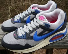 $50 Nike Air Max Skyline Women's Running Shoes 6.5 Grey Blue Pink White 343904-041 #Nike #RunningShoe