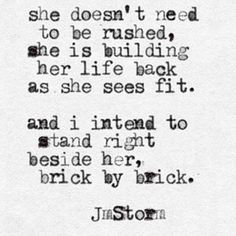 Brick by brick  #jmstorm #jmstormquotes  #poetry #instagood #quotes #quoteoftheday #poem #poetic #poetsofinstagram #writingcommunity #poetrycommunity #writersofinstagram #instaquote #instaquotes #poetsofig #igwriters #igpoets #lovequotes #wordporn #spilledink #prose #wordplay #igpoems #typewriterpoetry #typewriter