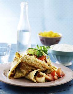 Pandekager behøver ikke være usund dessert, prøv denne herlige ret med salte pandekager og lækkert fyld.