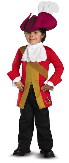 Classic Captain Hook Jacket With Attached Shirt And Character Hat. Toddler  Costumes, Family Costumes