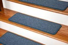 "Dean Serged DIY Carpet Stair Treads 27"" x 9"" - Teal - Set of 13 - modern - Stair Tread Rugs - Dean Flooring Company, LLC"