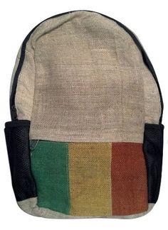 "Rasta Style Hemp 18"" Large Backpack Bag NEW STYLE KP. $19.95"
