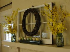 old windows on the mantle - Google Search